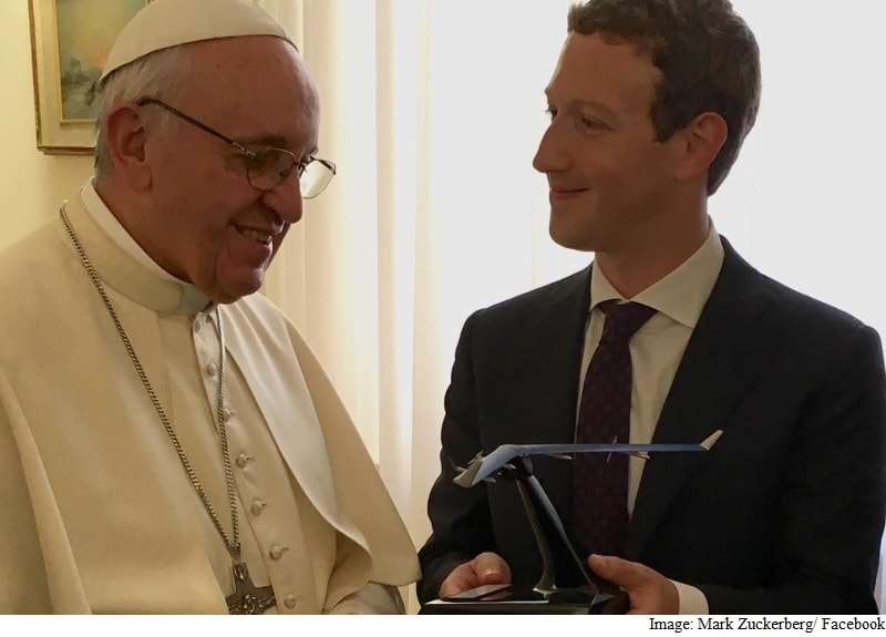 Mark Zuckerberg Meets the Pope; Gifts Him a Drone Model