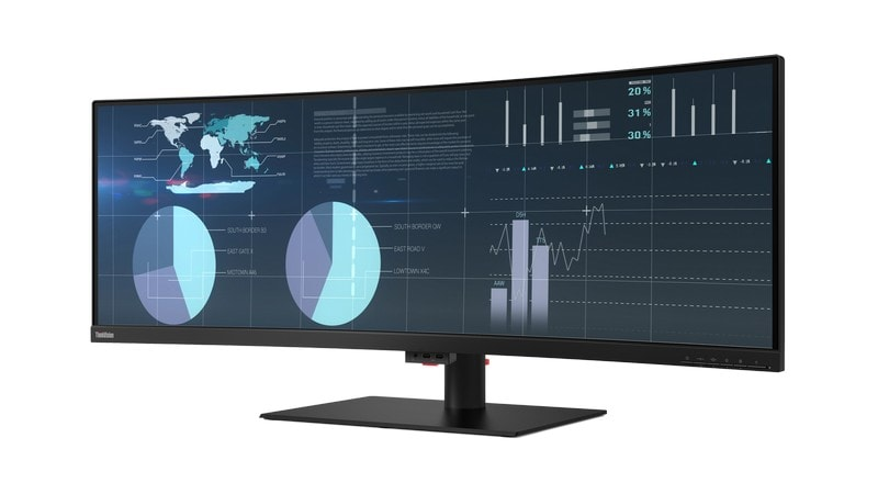 05 P44W Monitor Hero Front facing Left ThinkVision