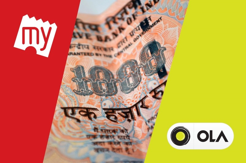 Rs. 500, 1000 Ban: Ola, BookMyShow, Grofers, and Other Beneficiaries of PM Narendra Modi's Big Move