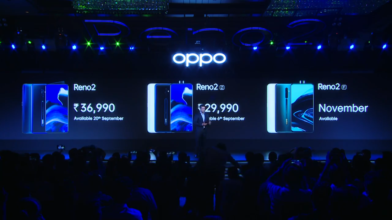 Oppo Reno 2 Price in India Set at Rs. 36,990, Reno 2Z to Retail at Rs. 29,990: Event Highlights
