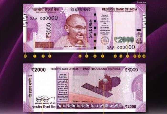 RBI 2000 Rupees Note Features Show No NGC GPS Tracking Chip