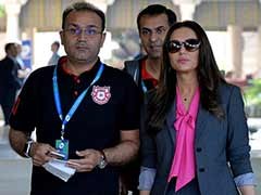 IPL: KXIP Co-Owner Preity Zinta Lashes Out At Media, Says Spat With Sehwag Is 'Fake News'