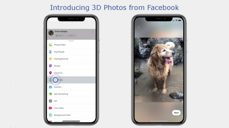 Facebook Now Lets You Post 3D Photos in News Feed and VR