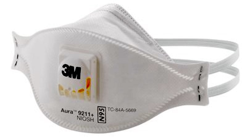 3m aura respirator pollution