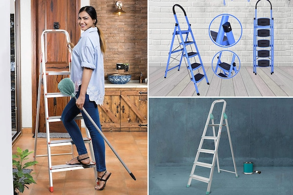 5 Step Foldable Ladders For Easy Access To Far Off Corners