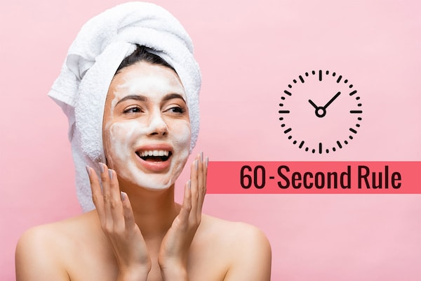 60-Second Rule For Washing Your Face: New Cleansing Clock For Clear And Illuminated Skin