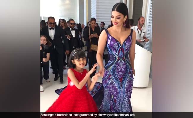 बेटी आराध्या के साथ ऐश्वर्या का डांस, Cannes 2018 में छाया बटरफ्लाई लुक...