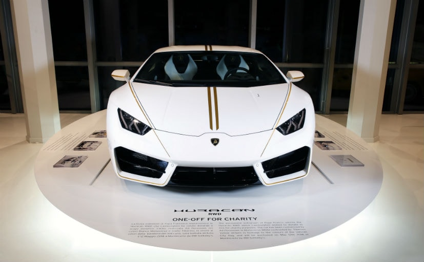 The Pope has sold his 198mph Lamborghini for £615000