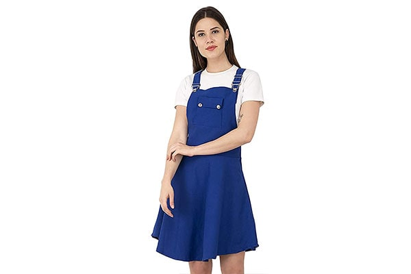 AAKRITHI Womens Knee Length Dungaree 1611947055634