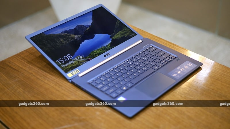 Acer Swift 5 flat open ndtv acer swift 5