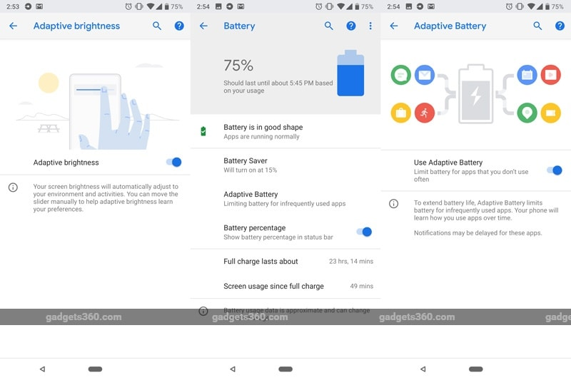 AdaptiveBrightnessand Battery 094818 124830 1209 Android P Features