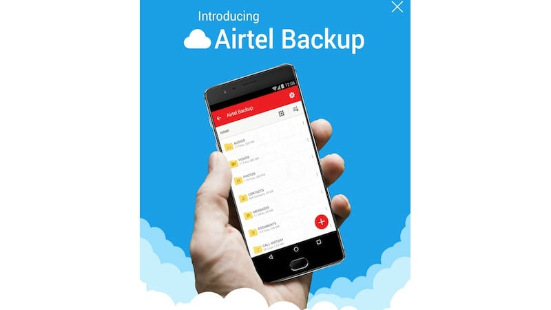 Airtel Introduces 2GB of Free Cloud Backup with myAirtel App