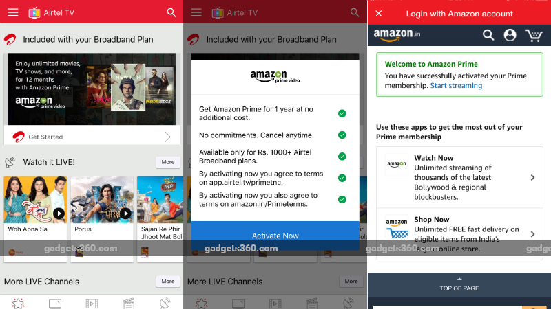 Airtel Offers Free Amazon Prime Subscription: How to Claim
