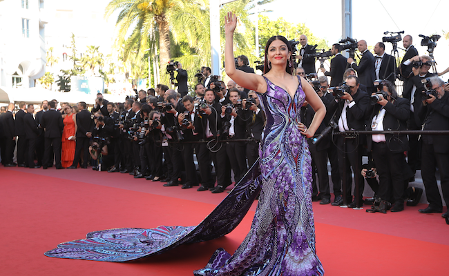 Image result for aishwarya rai on cannes 2018