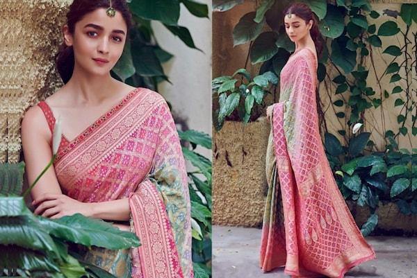 Get Alia Bhatt Bandhani Saree Look Now!
