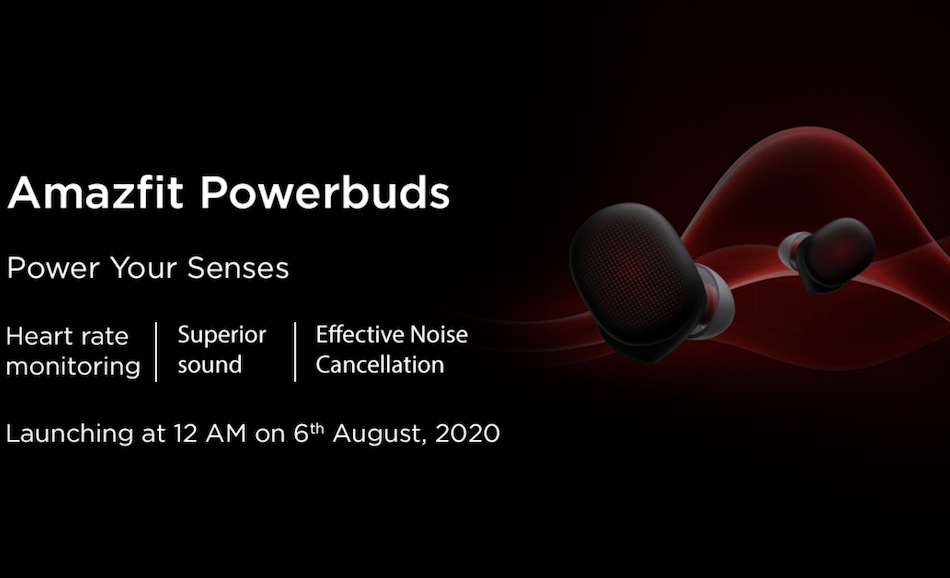 Amazfit Powerbuds With Heart Rate Sensor to Launch in India on August 6