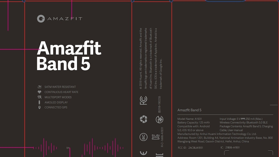 Amazfit Band 5 Spotted on US FCC Website, AMOLED Display and 5ATM Water Resistance Tipped