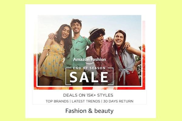 End of Season Sale 2021 on Amazon - Fashion Sale