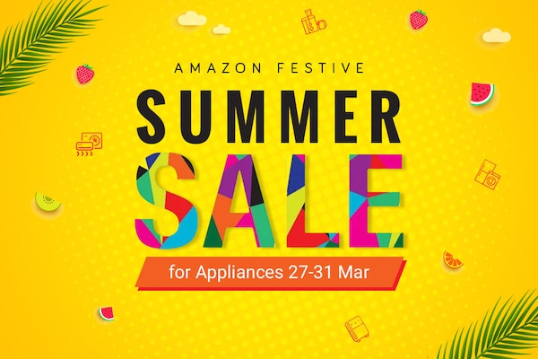 Amazon Festive Summer Sale On Appliances : Up to 40% Off + Extra Rs.1000 Off on All Debit & Credit Cards