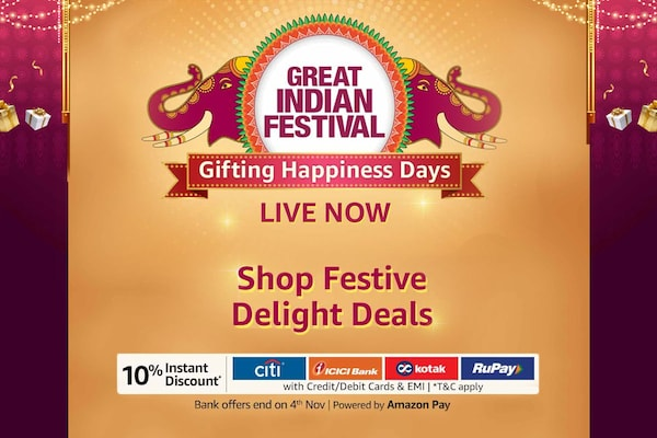 Amazon Great Indian Festival 2020 Sale: Best Offers & Deals Up to 80% OFF + 10% Instant Discount