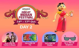 Day 2 of The Amazon Great Indian Festival Sale Offer, 14th-17th Oct 2017, Check for Best Deals and Offers of the Amazon Great Indian Sale here!