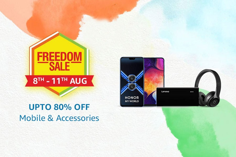 Amazon Freedom Sale Offers on Mobiles & Accessories