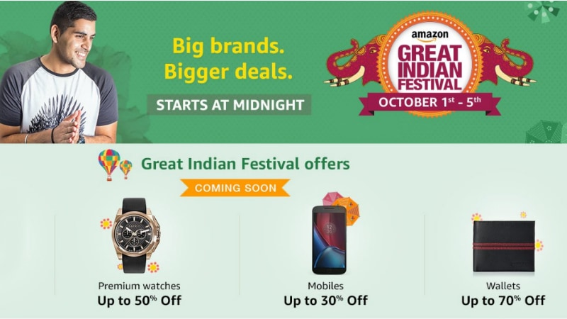 Amazon Great Indian Sale Offers Deals on Redmi Note 3, Moto G4 Plus, Le Max 2, and More