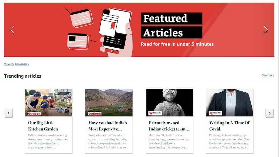 Amazon Adds 'Featured Articles' Section on App, Website With Content on Sports, Auto, Entertainment, More