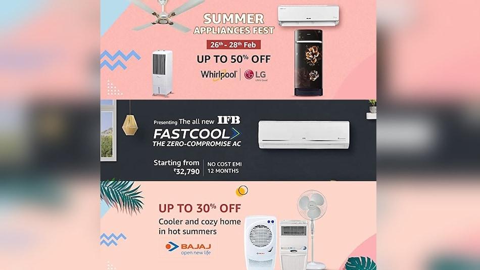 Amazon Summer Appliance Fest Brings Impressive Discounts on ACs, Refrigerators, Coolers, More