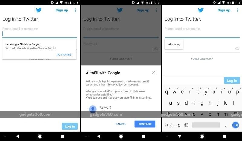 Android O Autofill NDTV Android O Beta Autofill