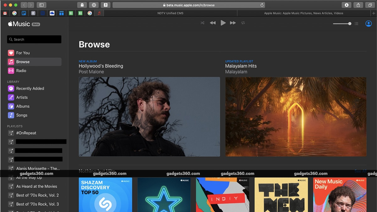 Apple Music finally gets a web interface