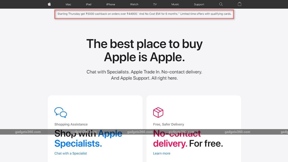 Apple Store Offering Rs. 5,000 Cashback on Orders Over Rs. 44,900: All the Details