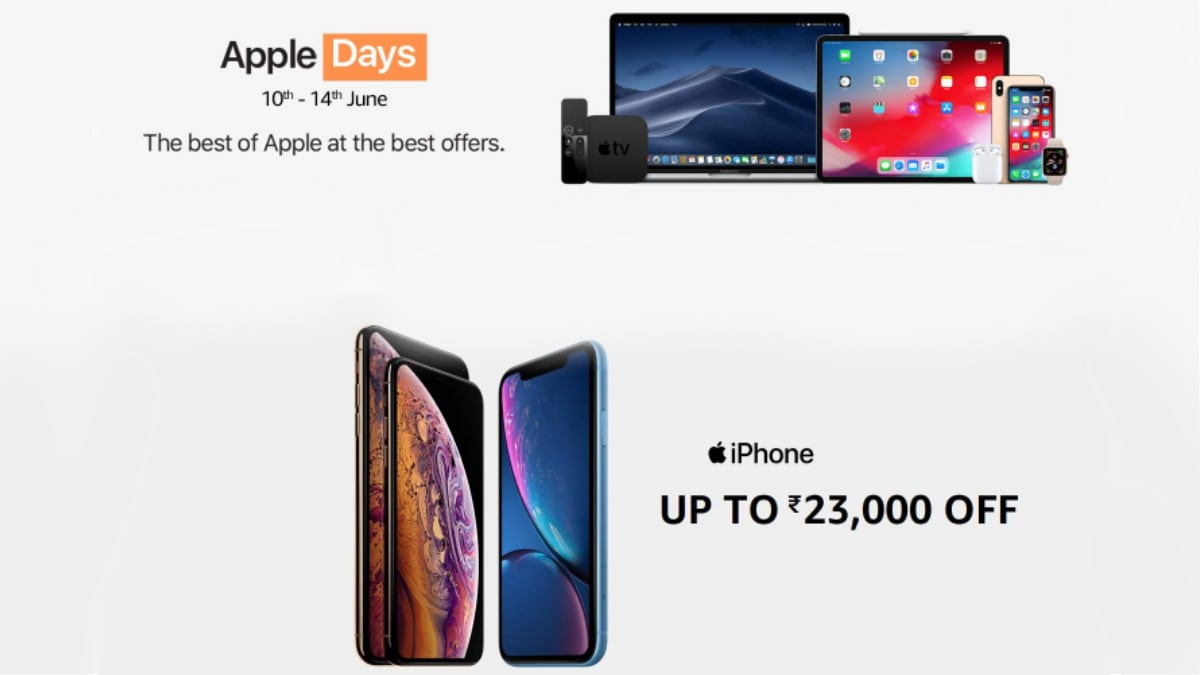 211e24b4ca1 Amazon Apple Days Sale Offers: iPhone XR, MacBook Air, Apple Watch Series  Price