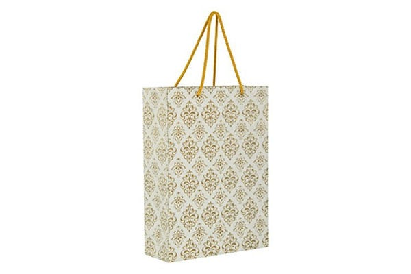 Arrow Paper Bags Gold Flower Design Gift Bags 1611342961859