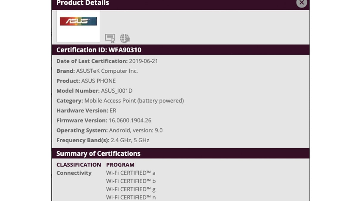 Asus ROG Phone 2 Spotted on US FCC, Wi-Fi Alliance, and 3C Certification Websites: Reports
