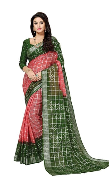 Bandhani Saree Dealsure Women Multicolor Bandhani Sari 1559110087450