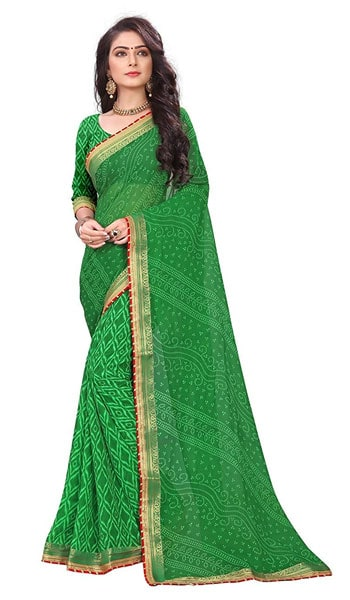 Bandhani Saree Devika Fashion Women Georgette Rajasthani 1559110588869