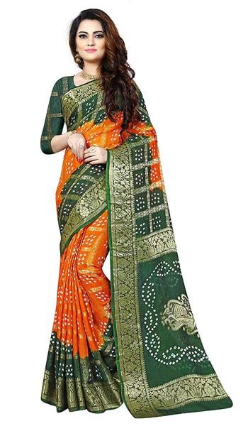 Bandhani Saree Ravi Bandhani Women Printed Zen Silk Saree 2 1559110209163