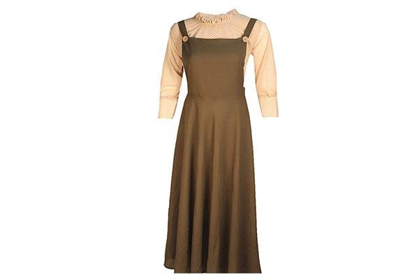 Barakath Women and Girls Dungaree Pinafore Long Skirt and Top Dress 1611946853644