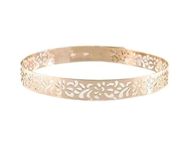 Belt For Saree Voberry Womens Punk Metal Carved Hollow Waist Belt 1557223605314