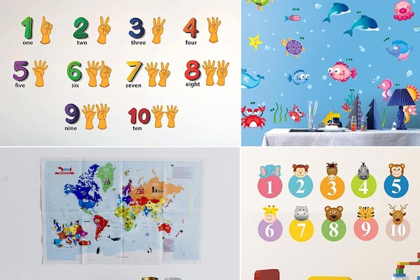 Enjoy Hassle-Free Learning Sessions With These Educational Wall Stickers For Kids