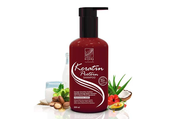 Rivona Naturals Keratin Protein Shampoo for Anti-Breakage