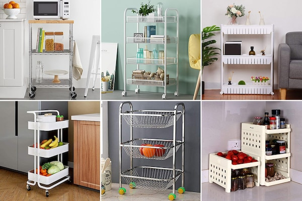 Best Kitchen Trolley Stands To Store More In Tight Spaces