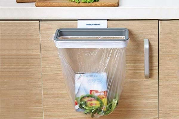 Best Kitchen organizer Flyngo Kitchen Trash Garbage Bag Rack Holder Attachable Waste Storage Hanging Bag Holder 1558527556459