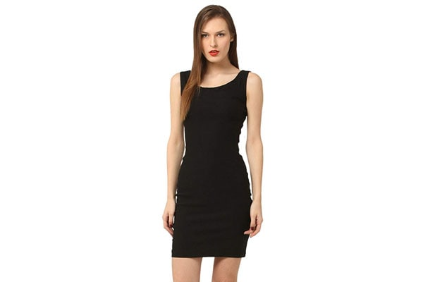 Vostro Moda Women's Polyester Stretchable Bodycon Dress
