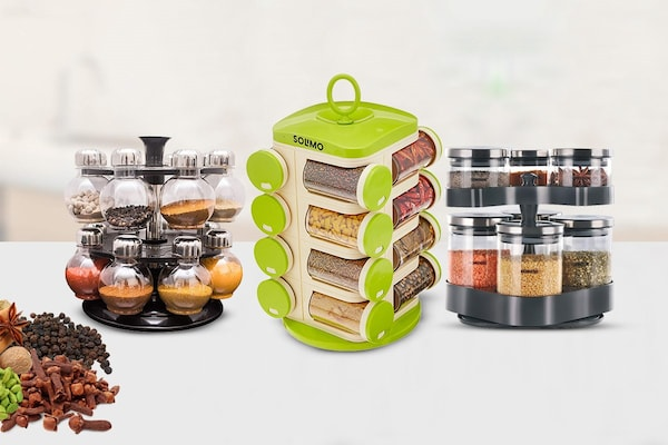 Revolving Spice Racks For Quick And Easy Access
