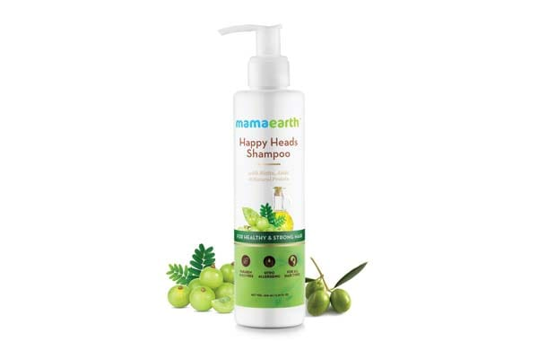 Mamaearth Happy Heads Natural Protein Hair Shampoo 200ml with Biotin, Horse Chestnut, Bhringraj and Amla