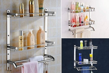 Time To Declutter Your Bathroom With These Best Stainless Steel Wall Mount Bath Shelves