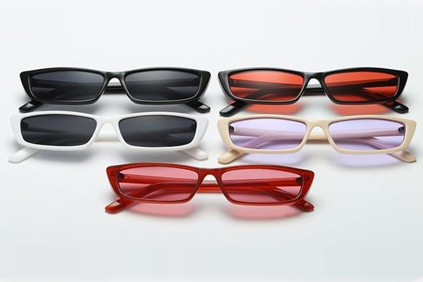 Phenovo Women Vintage Rectangle Small Frame Sunglasses