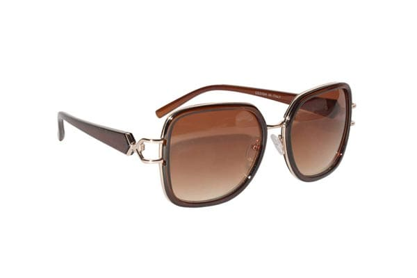 Peter Jones Brown Square Sunglasses for Women